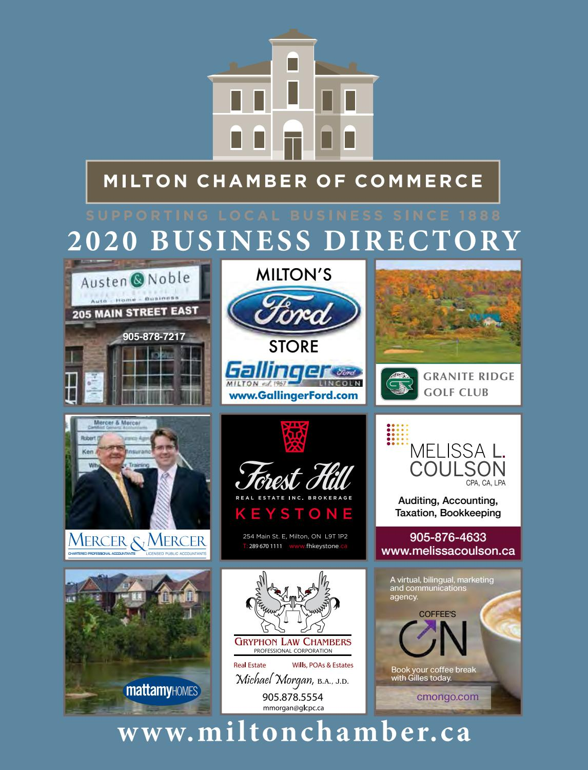 Milton Chamber Of Commerce 2020 Business Directory By Milton Chamber Of Commerce Issuu