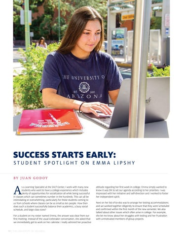 Page 12 of SUCCESS STARTS EARLY: STUDENT SPOTLIGHT ON EMMA LIPSHY