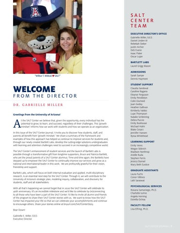 Page 3 of Welcome From the Director