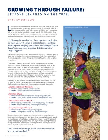 Page 4 of GROWING THROUGH FAILURE: LESSONS LEARNED ON THE TRAIL