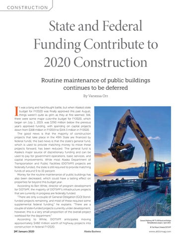 Page 24 of State and Federal Funding Contribute to 2020 Construction