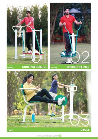 Page 4 of SANSUN INDUSTRIES PVT.LTD. New Open Gym Catalogue Launching