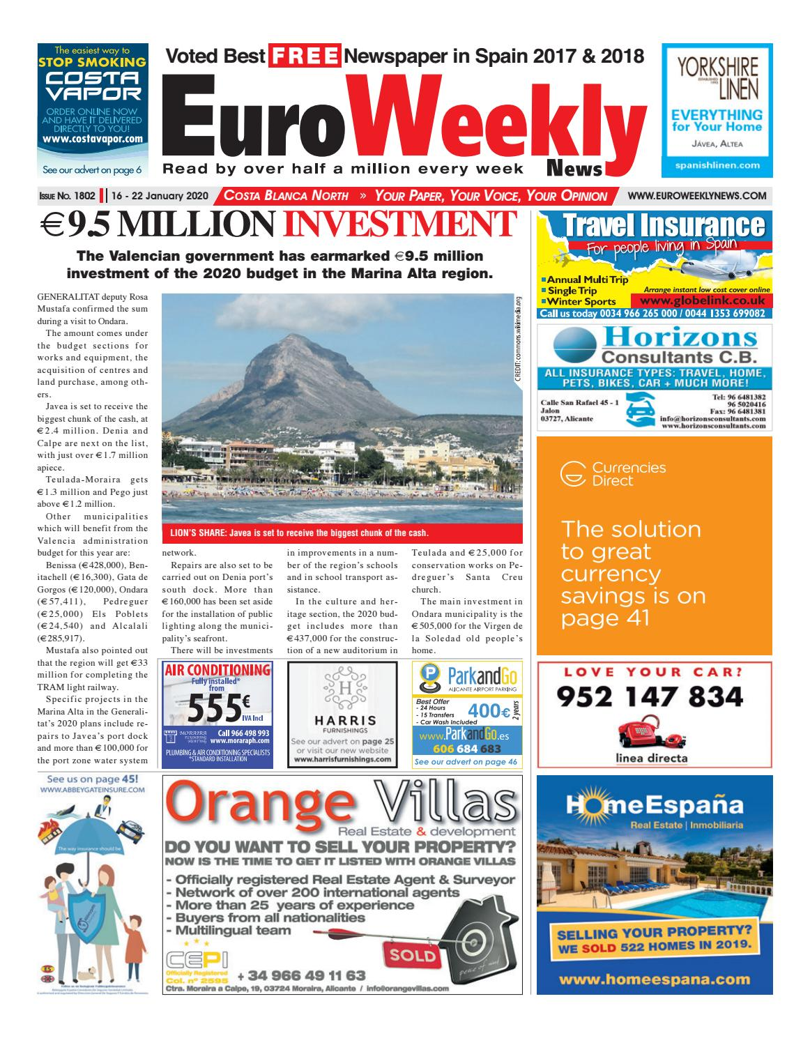 Euro Weekly News Costa Blanca North 16 22 January 2020 Issue