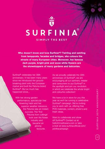 Page 19 of 30th anniversary of Surfinia®