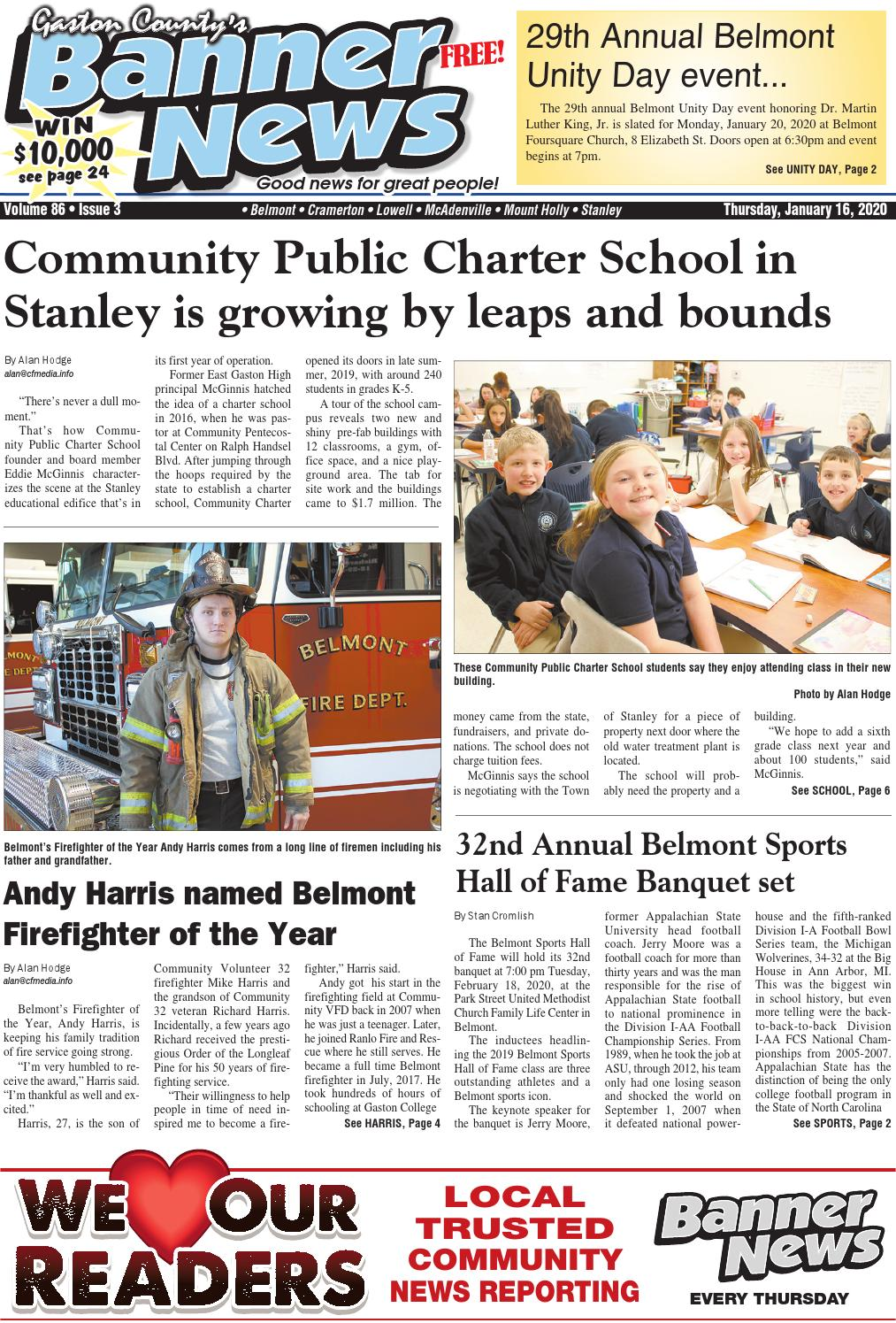 Banner News 1 16 20 By Community First Media Issuu