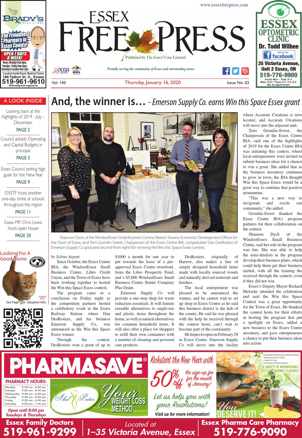 Essex Free Press January 16 2020 By Essex Free Press Issuu