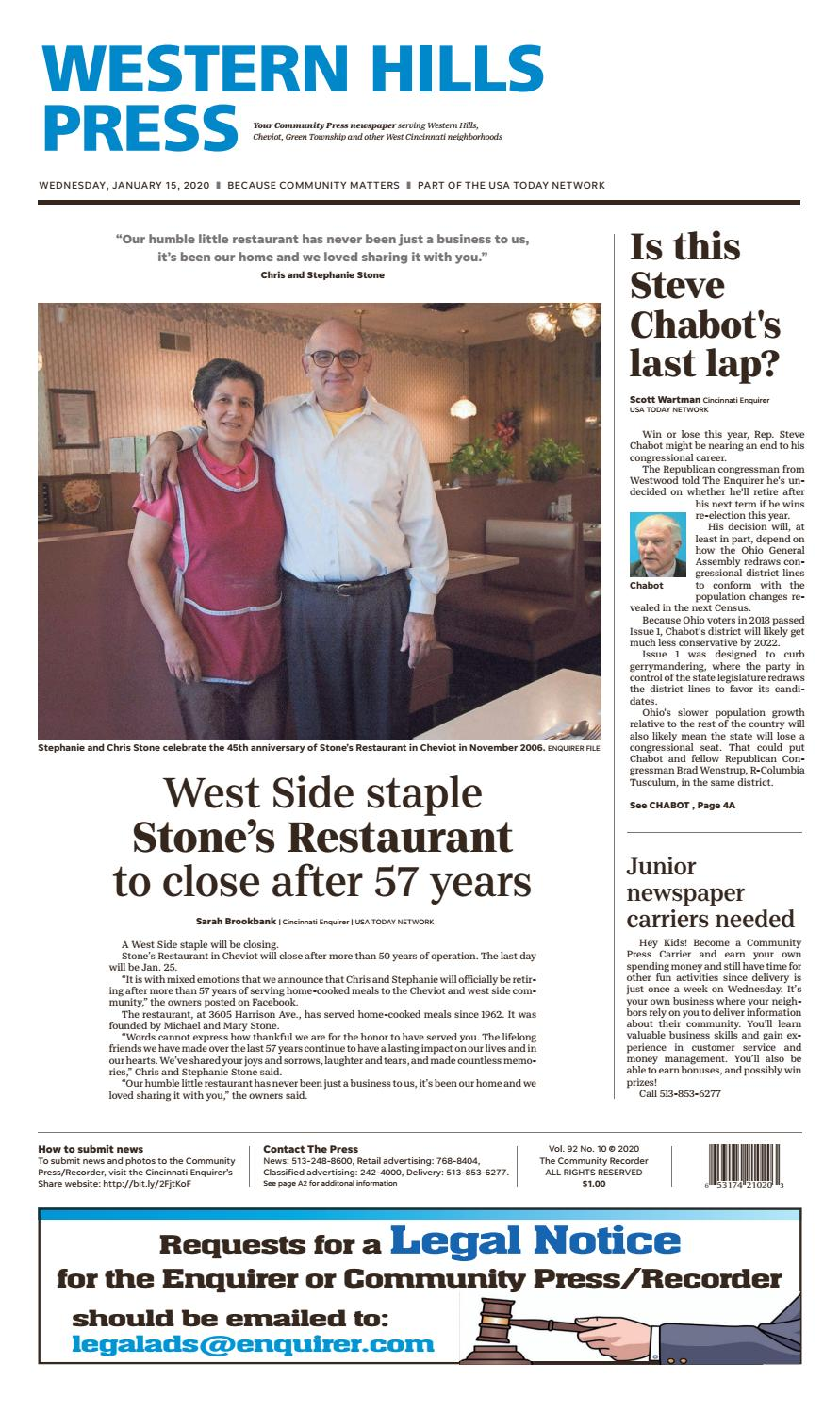 Western Hills Press 01 15 20 By Enquirer Media Issuu