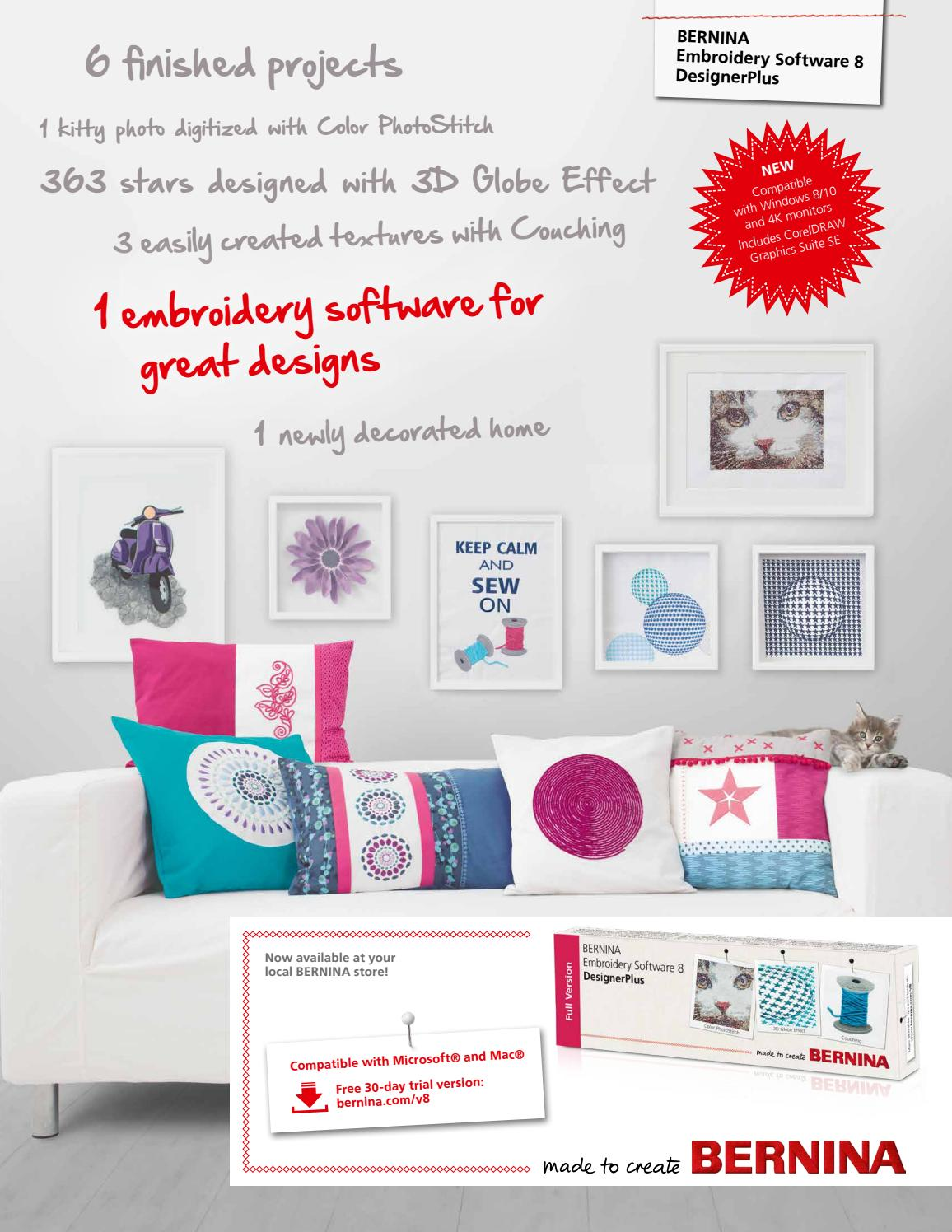 Bernina Embroidery Software 8 Brochure English By Bernina International Ag Issuu