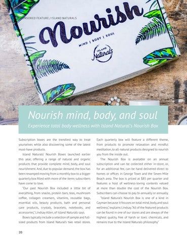 Page 22 of Experience total body wellness with Island Natural's Nourish Box Nourish mind, body, and soul