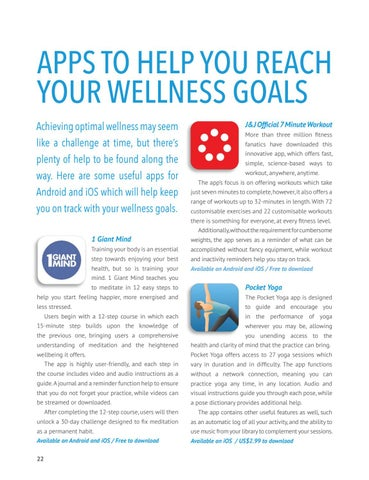 Page 24 of APPS TO HELP YOU REACH YOUR WELLNESS GOALS