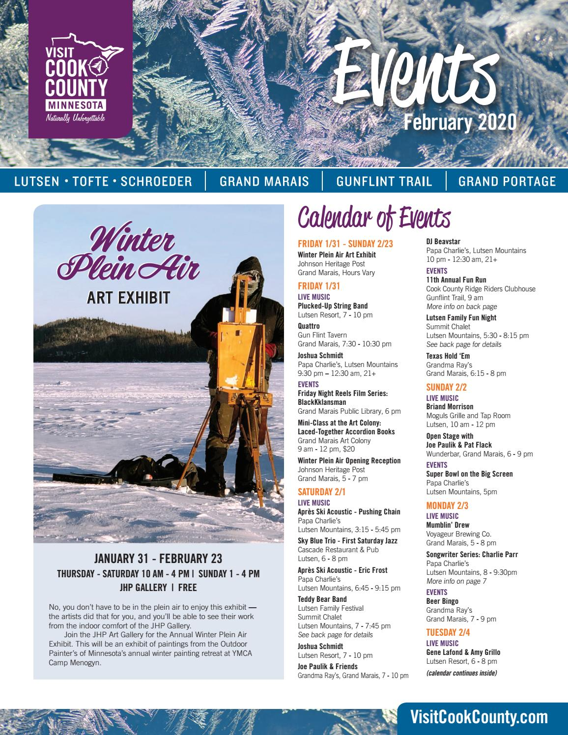 February 2020 Event Newsletter Visit Cook County Mn By Visit