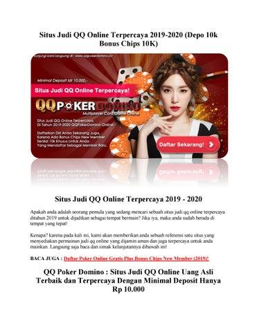 Situs Judi Qq Online Terpercaya 2019 2020 Depo 10k Bonus Chips 10k By Anan Issuu