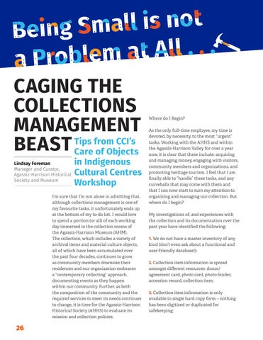 Page 28 of Caging the collections management beast