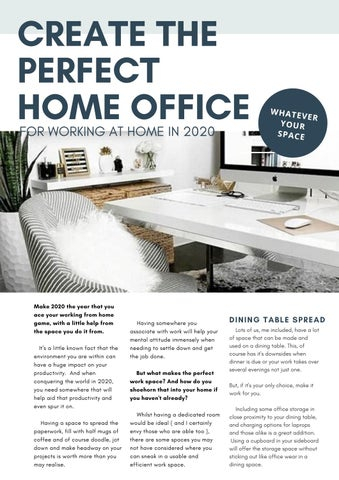 Page 23 of Create the perfect home office for working at home in 2020