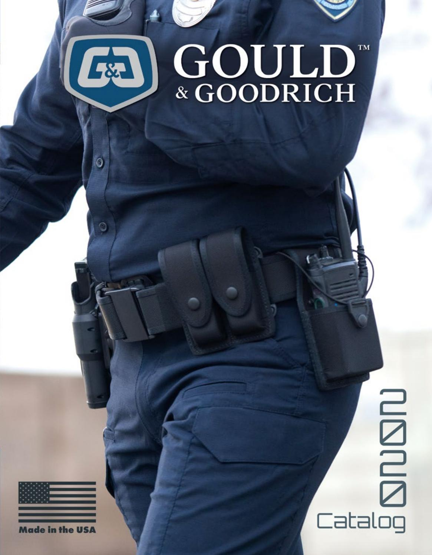 """Gould /& Goodrich Hidden Cuff Key Belt Keeper Black Fits Belts 2-1//4/"""" B127"""