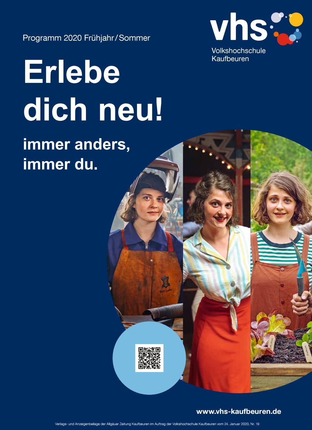 Vhs Kaufbeuren Fruhjahr Sommer 2020 Programm By Volkshochschule Kaufbeuren E V Issuu