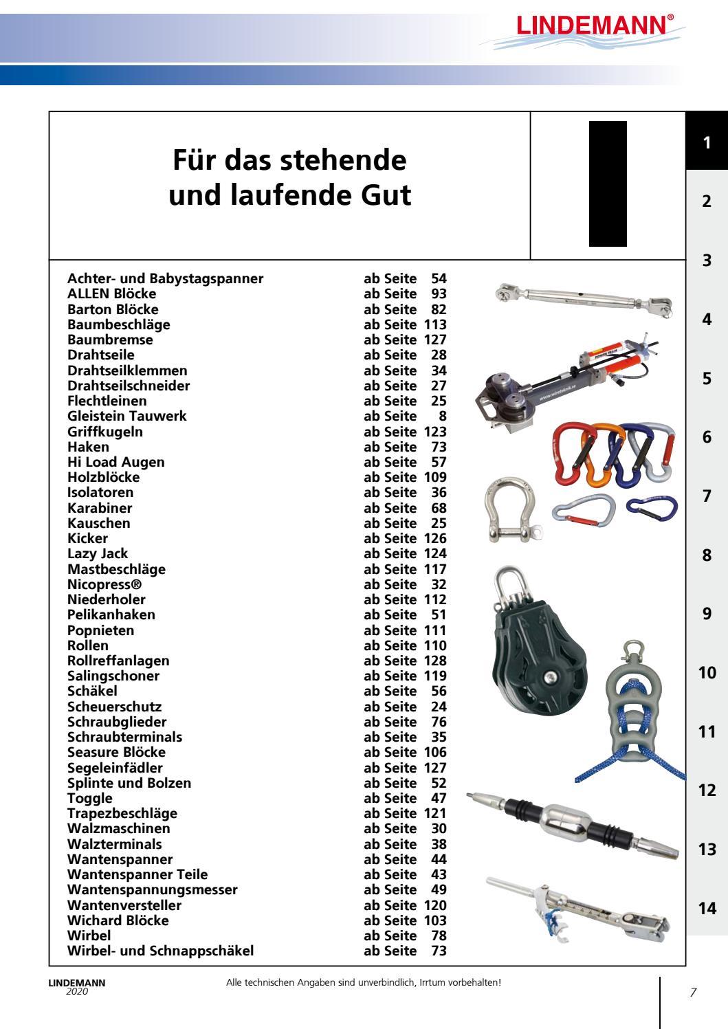 Edelstahl Schnappsch/äkel 105 mm mit Wirbelauge A4 AISI 316