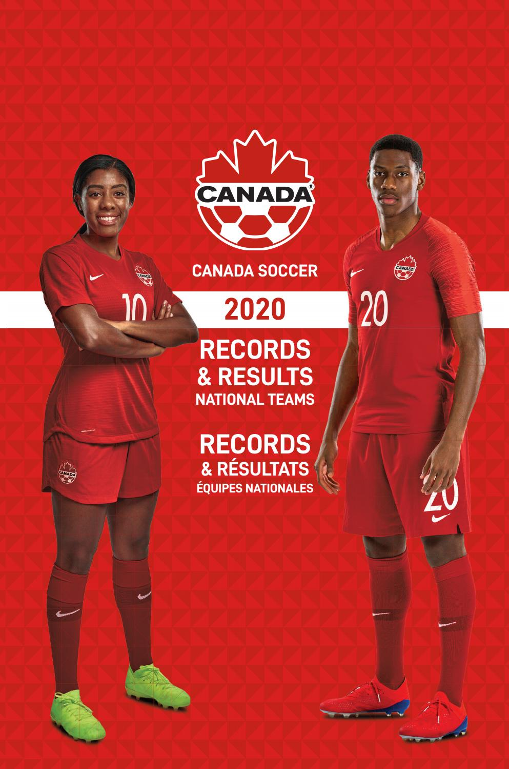 2020 Canada Soccer Records Results National Teams By Canada Soccer Issuu