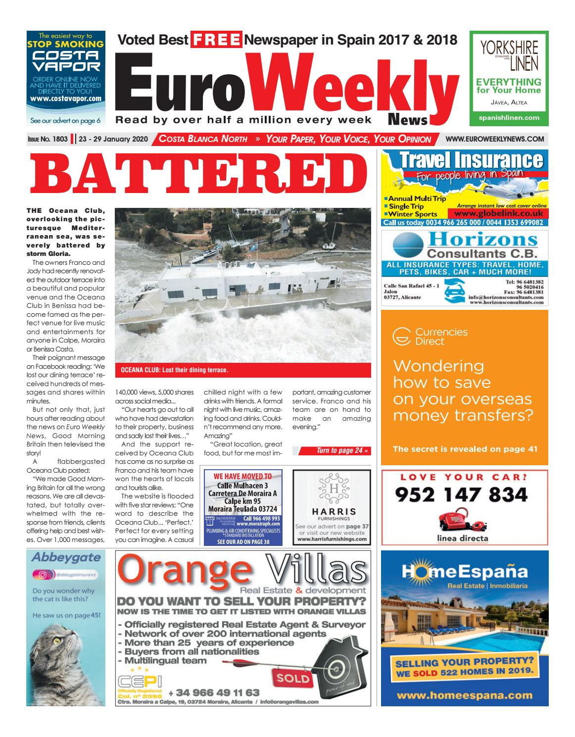 Euro Weekly News Costa Blanca North 23 29 January 2020