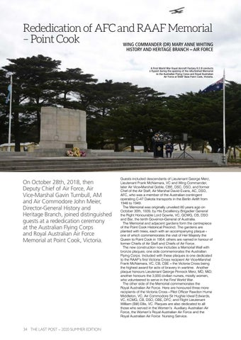 Page 36 of Rededication of AFC and RAAF Memorial – Point Cook