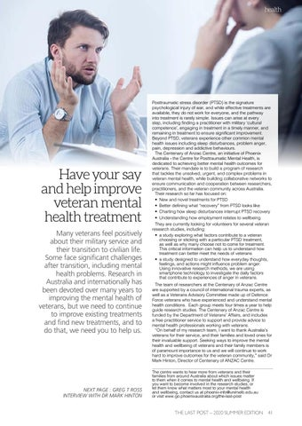 Page 43 of Have your say and help improve veteran mental health treatment