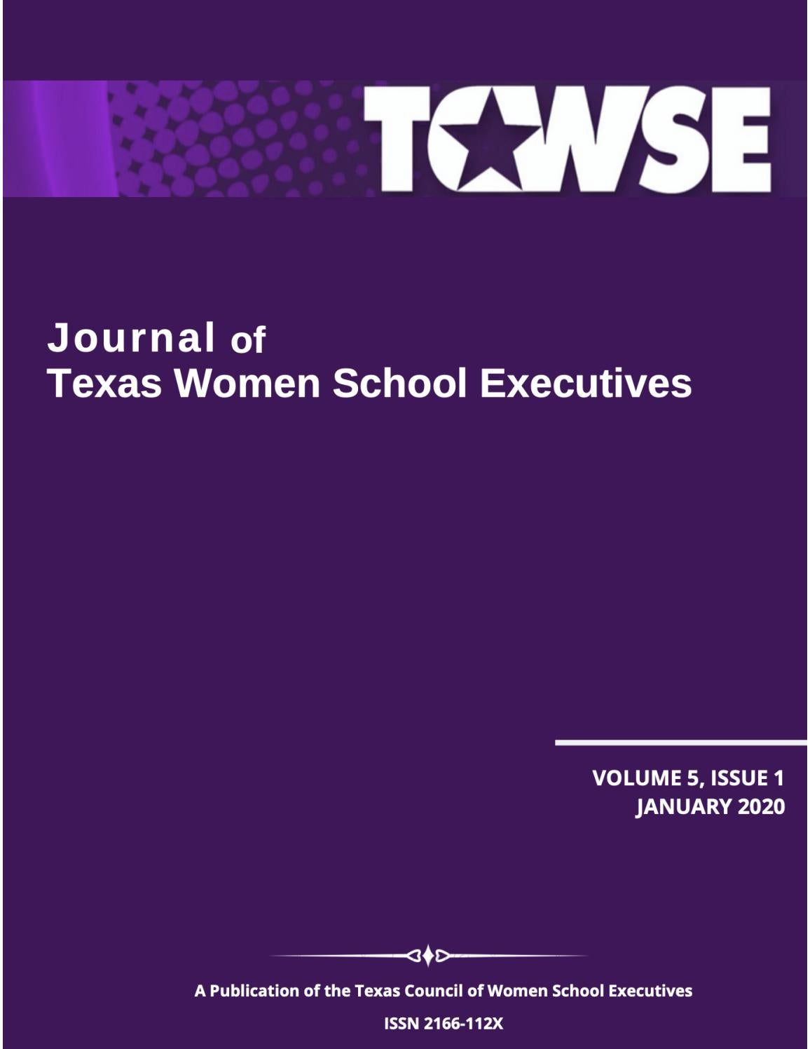 Journal Of Texas Women School Executives Volume 5 Issue 1 By