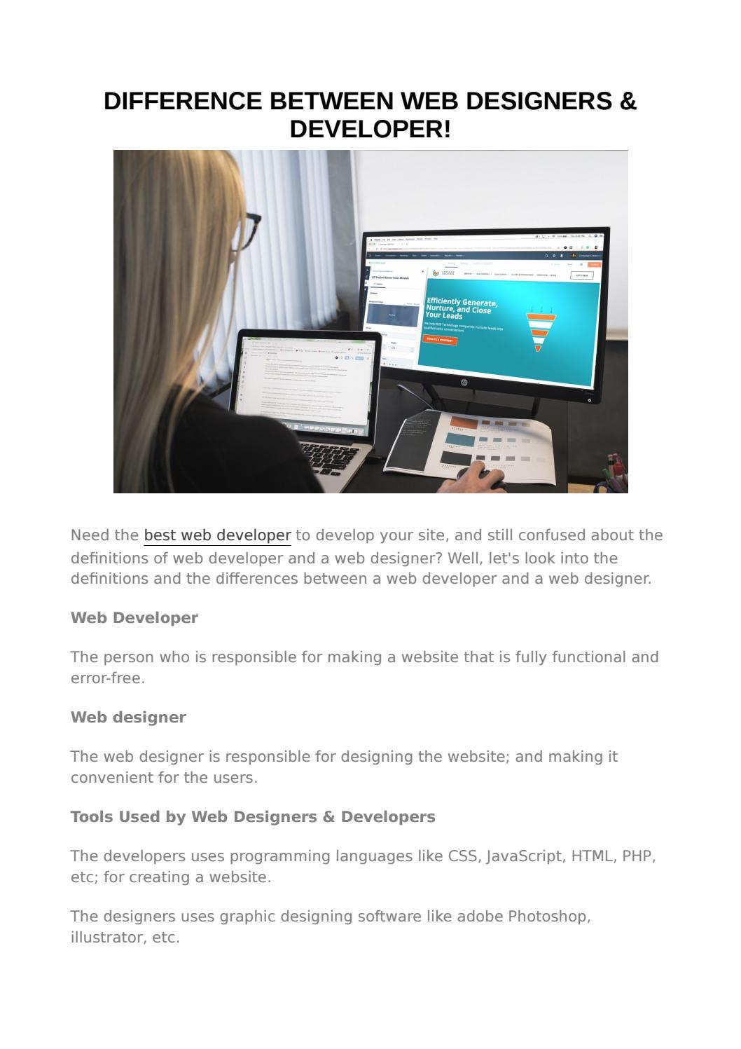 Web Developer Designer By Sadoon Samara Issuu