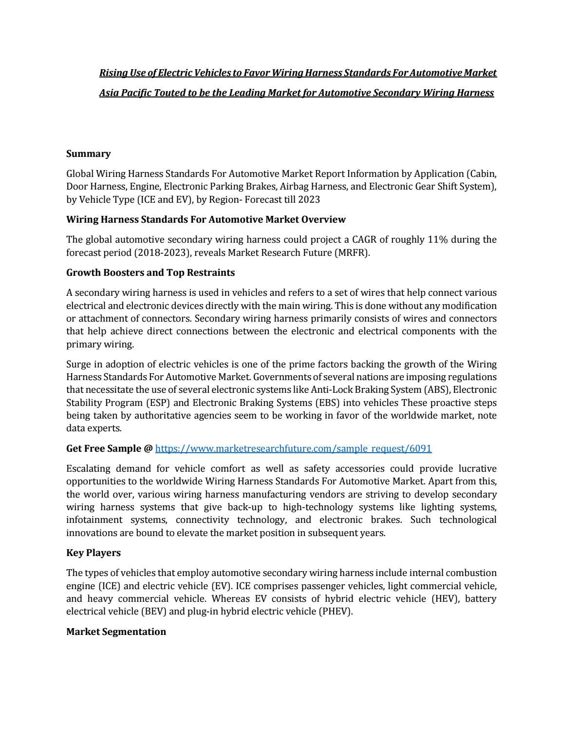 Wiring Harness Standards For Automotive by sakkk18 - issuuIssuu