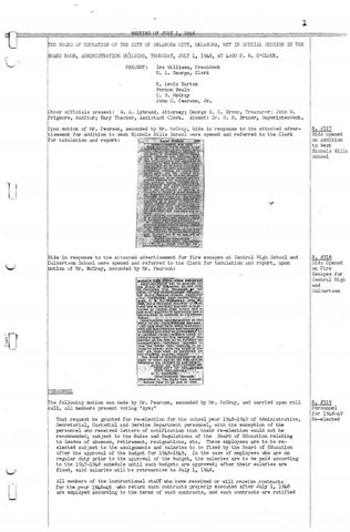 Oklahoma City Public Schools Board Meeting Minutes July 1948 June 1949 By Metropolitan Library System Oklahoma Issuu
