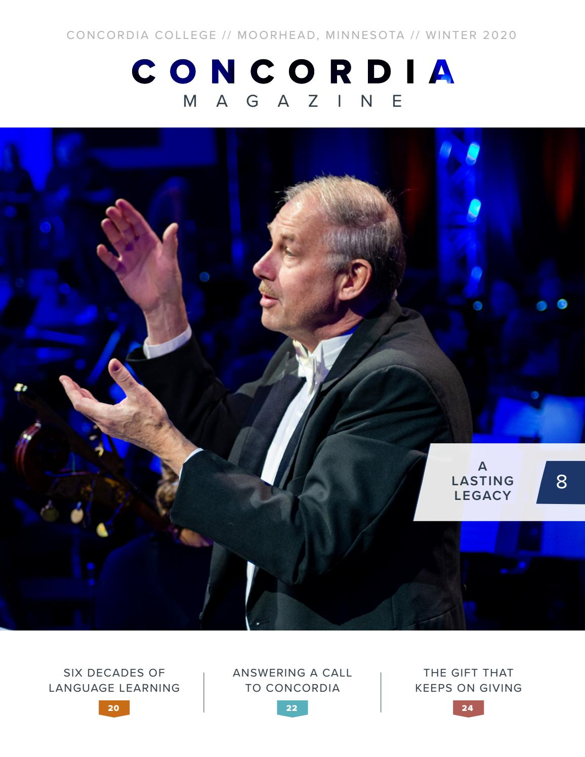 Concordia College Magazine Winter 2020 by Concordia Magazine   issuu