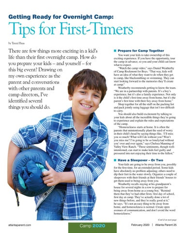 Page 25 of Getting Ready for Overnight Camp: Tips for First-Timers