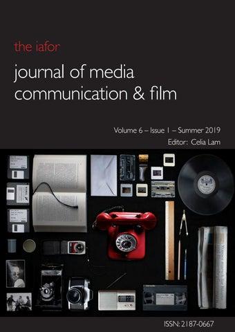 Iafor Journal Of Media Communication Film Volume 6 Issue 1