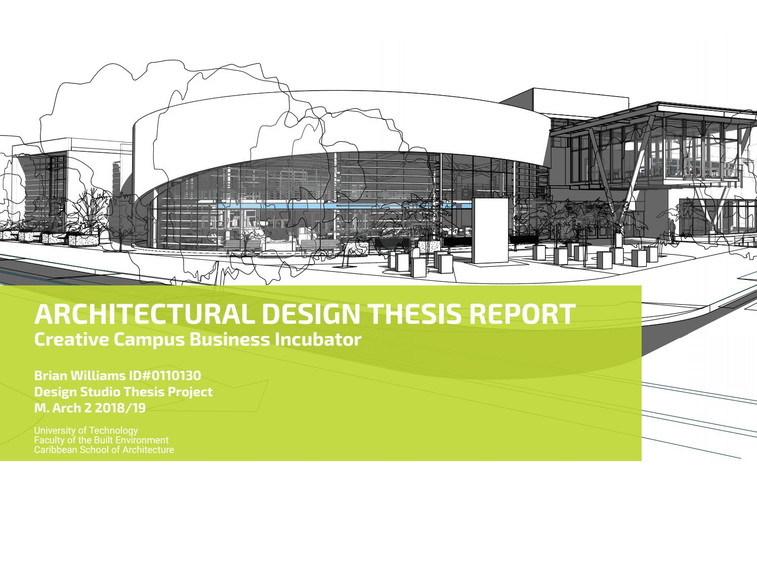 ARCHITECTURAL DESIGN THESIS REPORT By UTech, FOBE CSA, Design Computing -  Issuu