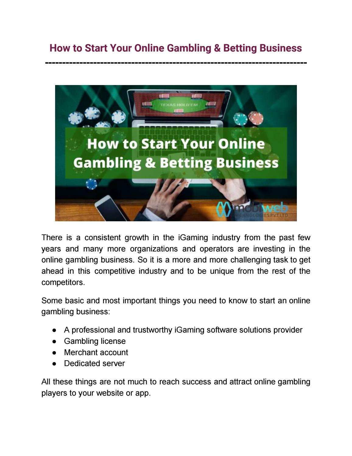Most Helpful Tips to Start Your Online Gambling & Betting Business