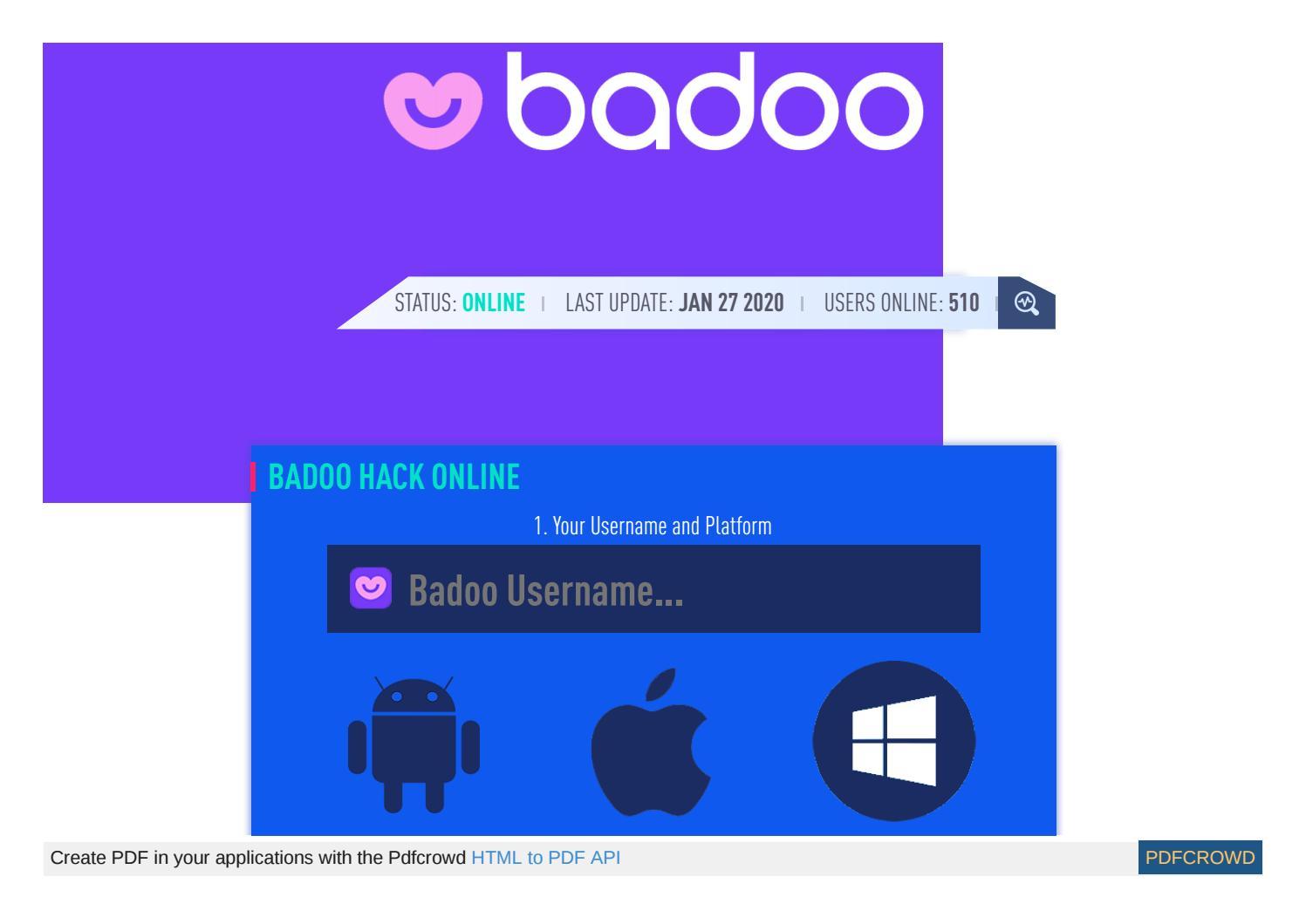 Credits badoo (!!Free!!) Badoo