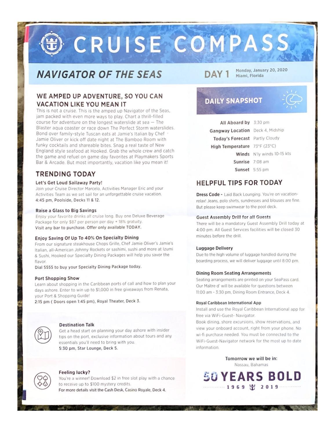 Navigator Of The Seas 4-night Bahamas & Perfect Day At