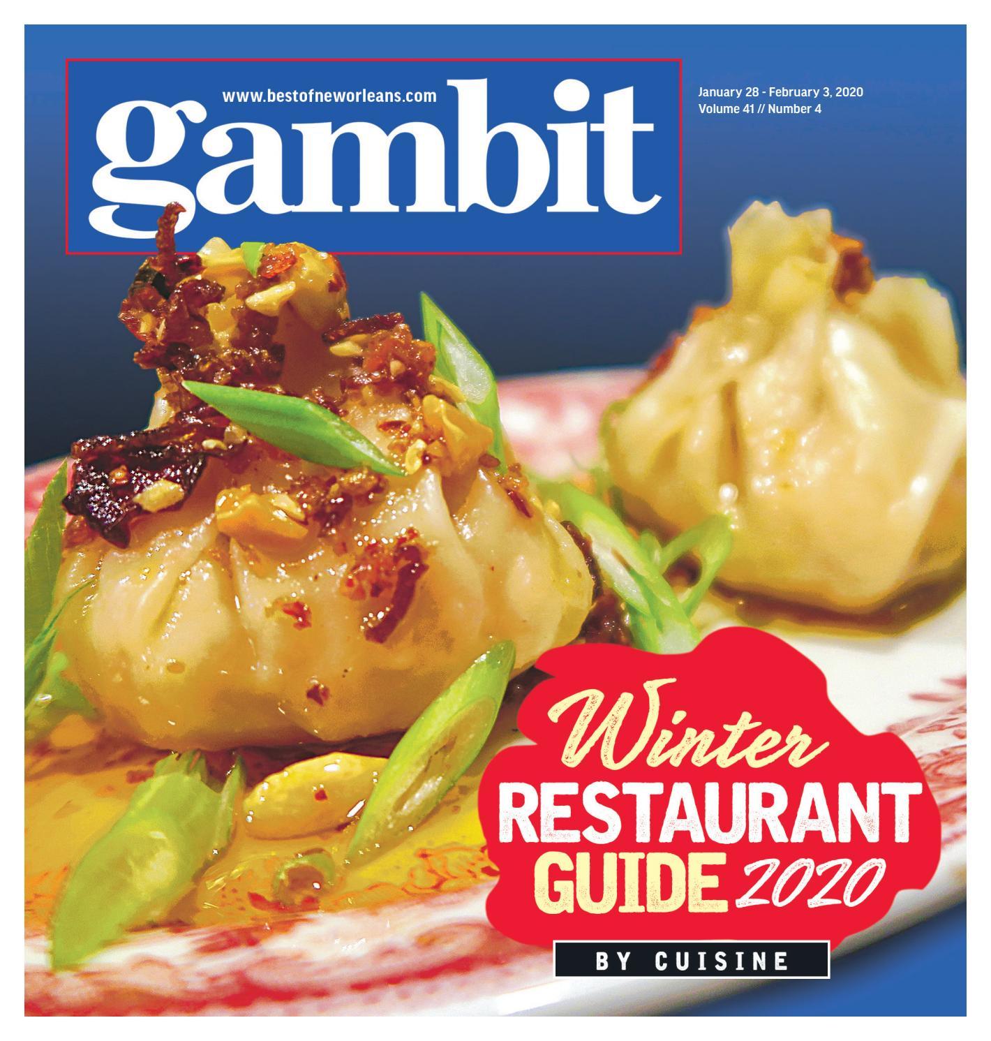 Avis Cuisine Hacker 2018 gambit new orleans, january 28, 2020gambit new orleans