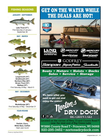 Page 17 of Fishing, Green Lake Wisconsin 2020 Official Map + Travel Guide