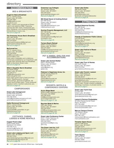 Page 48 of Green Lake Chamber Member Directory