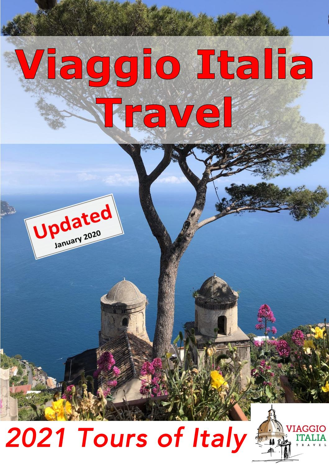 Viaggio Italia Travel 2021 Tour Brochure (Updated January ...