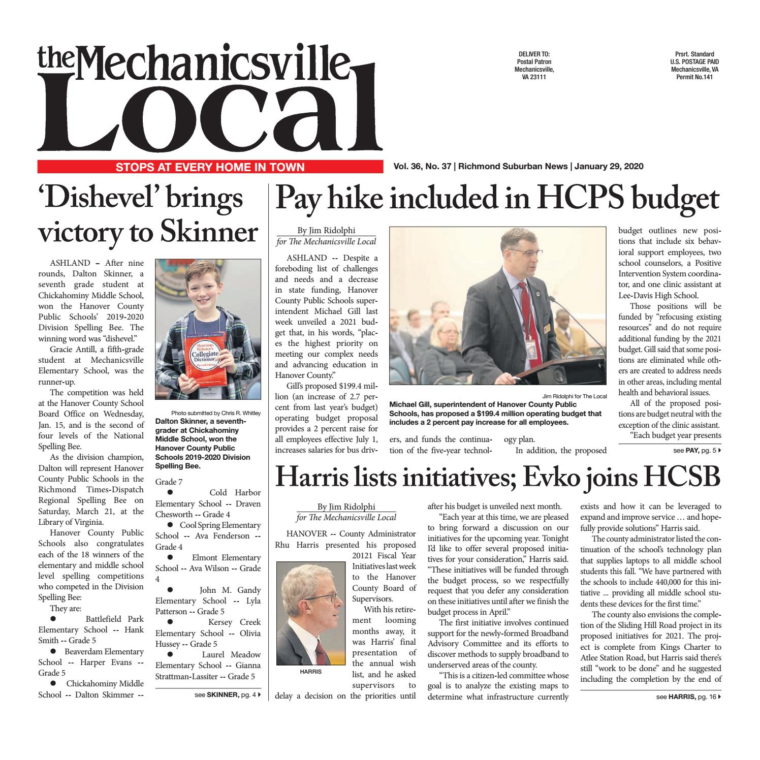 The Mechanicsville Local 01 29 2020 By The Mechanicsville Local Issuu
