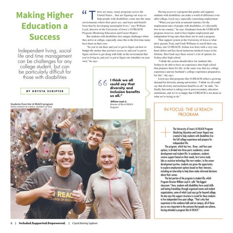 Page 6 of Making Higher Education a Success