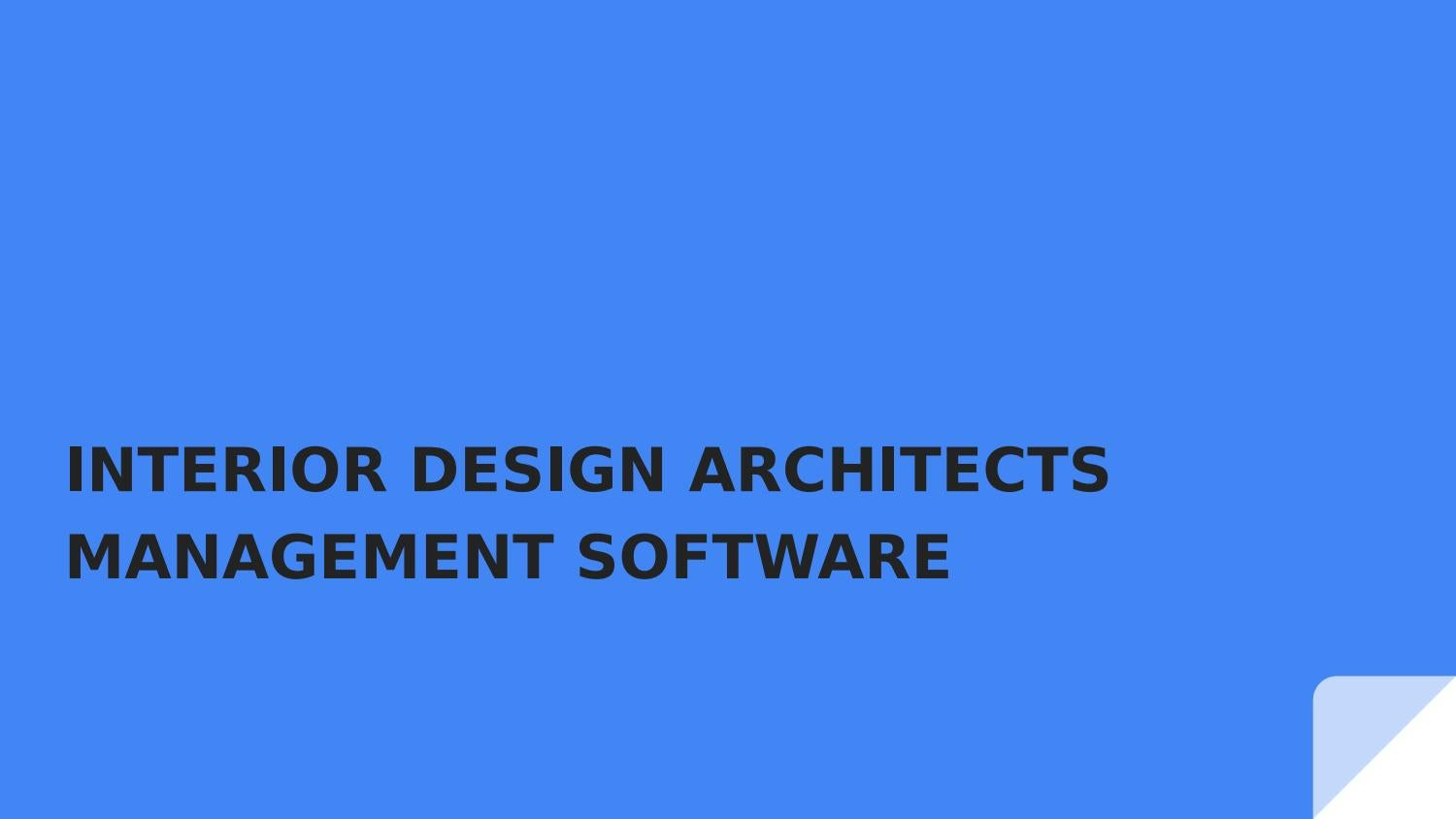 ERP Project Management Software for Interior Design Industry by ...
