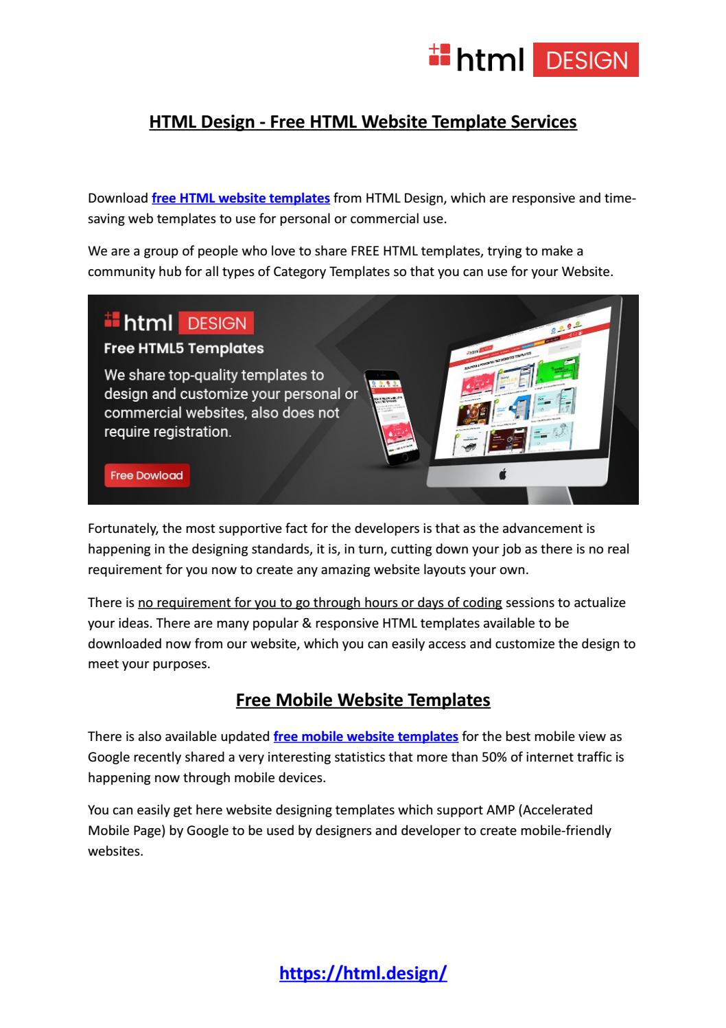 Html Design Free Html Website Template Services By Html Design Free Html Templates Issuu