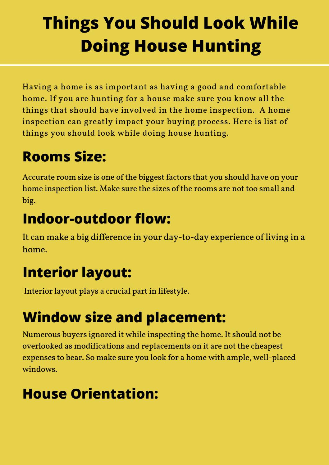 Things You Should Look While Doing House Hunting by FaxtExpert - issuu