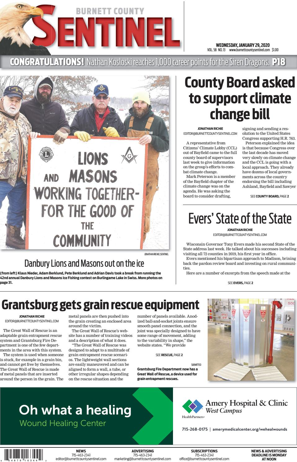 Burnett County Sentinel January 29 2020 By Burnett County