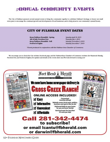 Page 12 of Annual Community Events