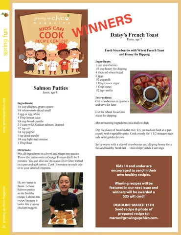 Page 30 of Kids Can Cook Contest Winners