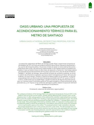 Page 19 of OASIS URBANO: UNA PROPUESTA DE ACONDICIONAMIENTO TÉRMICO PARA EL METRO DE SANTIAGO