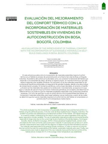 Page 33 of EVALUACIÓN DEL MEJORAMIENTO DEL CONFORT TÉRMICO CON LA INCORPORACIÓN DE MATERIALES SOSTENIBLES EN VIVIENDAS EN AUTOCONSTRUCCIÓN EN BOSA, BOGOTÁ